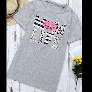 """Mom Life"" Longer Length Super Soft Fitted T-shirt"